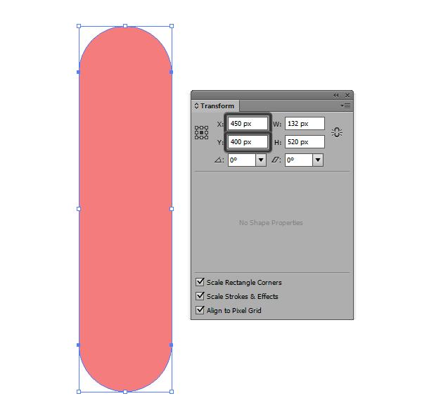 positioning the skate deck base shape