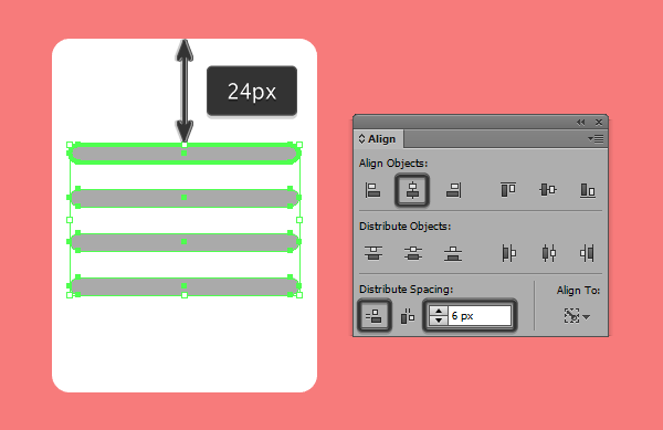 spacing the text line bars
