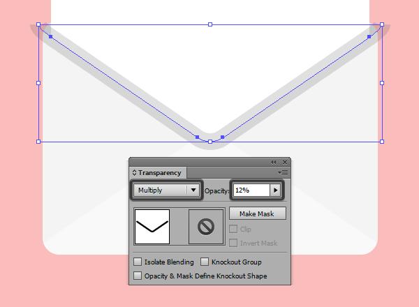 blending mode settings for the inner pocket shadow