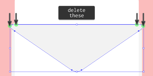 adjusting the anchor points of the letter clipping mask