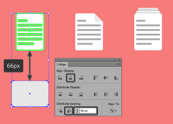 positioning the main shape for the email icon