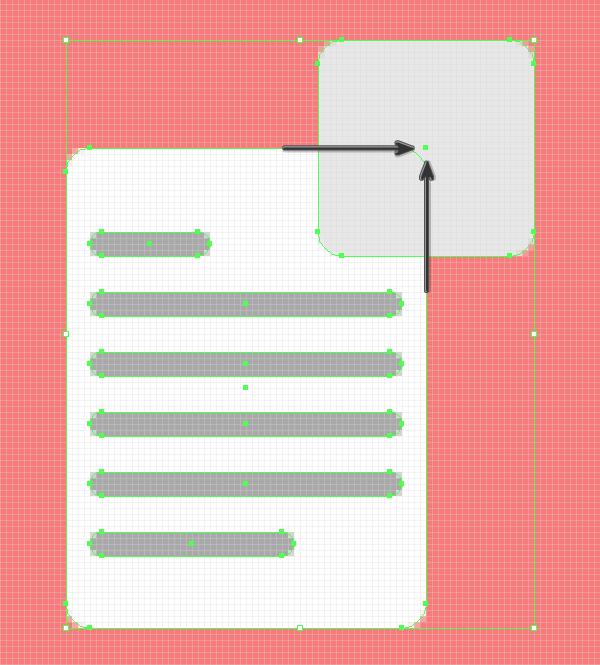 positioning the base shape for the folded corner