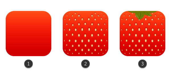 creating the icon using simple shapes