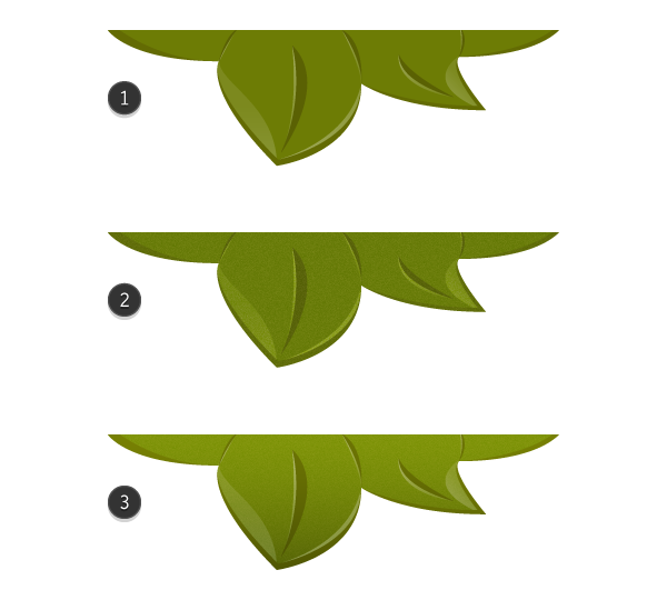adding grain texture to the leaves