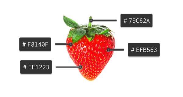 color extraction from a strawberry image
