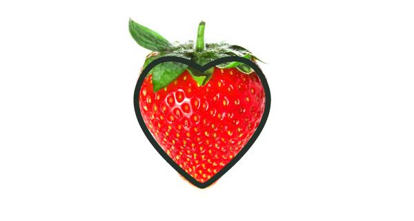 heart shaped strawberry