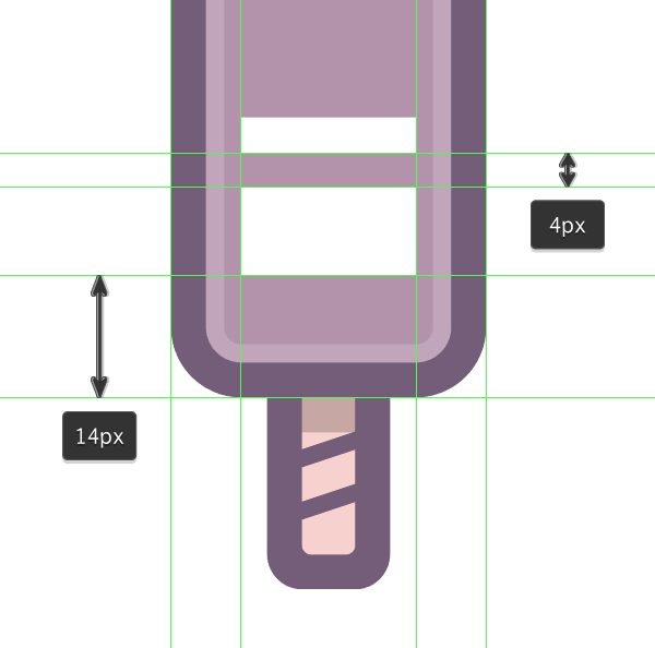adding the diagonal highlights to the first icon