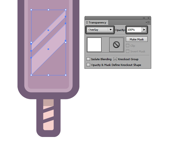 applying a second blending mode to the diagonal highlights of the first icon