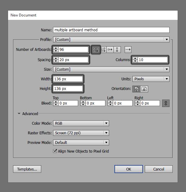 setting up a multiple artboard document