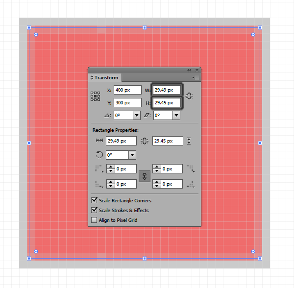 example of incorrect use of width and height values