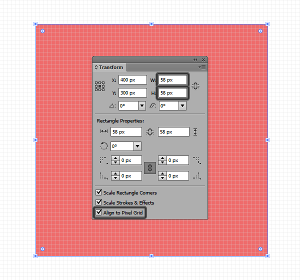 fixing the incorrect width and height values of a shape