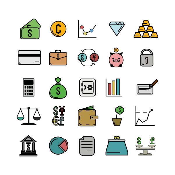 Example of cold colored icons