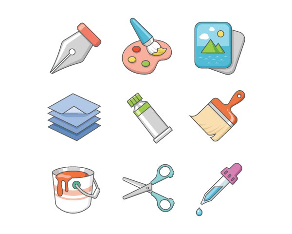 warm colored icons example