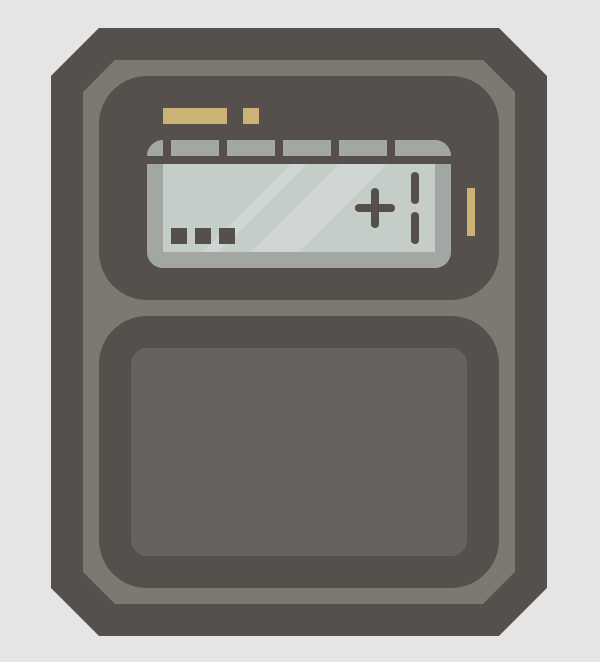 adding the main shapes for the watchs numpad