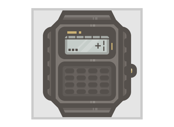casio watch icon finished