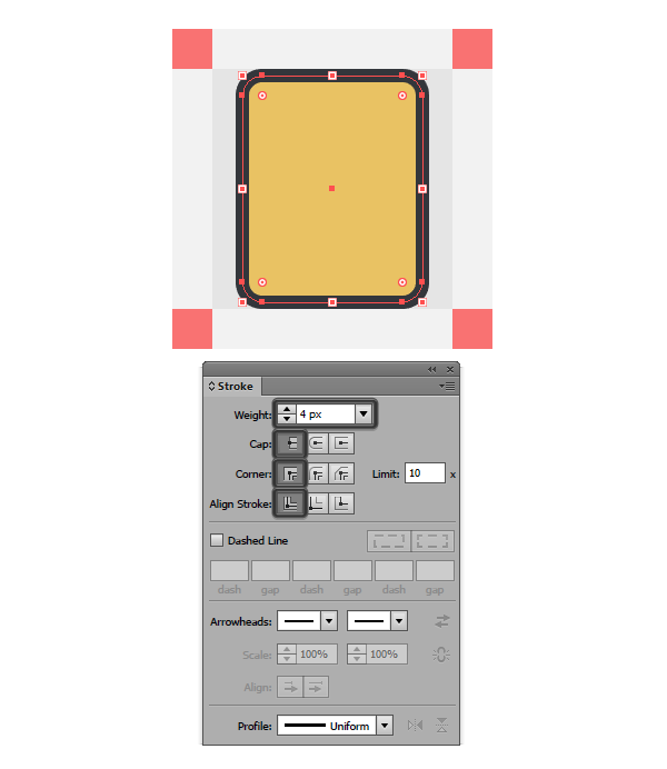 adding an outline to the ipod icon