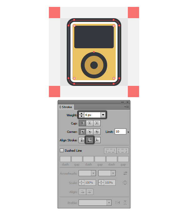 adding the all-around highlight to the ipod icon