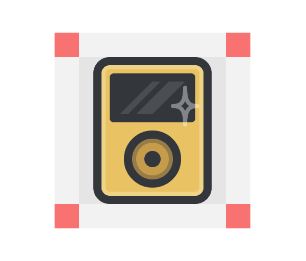 ipod icon with all details added