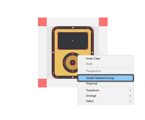 using isolation mode to add details to the icons