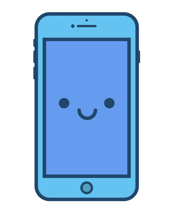 adding the eyes and mouth to the phone