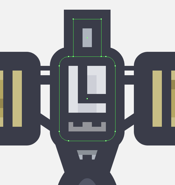 adding the neck section to the satellites upper body