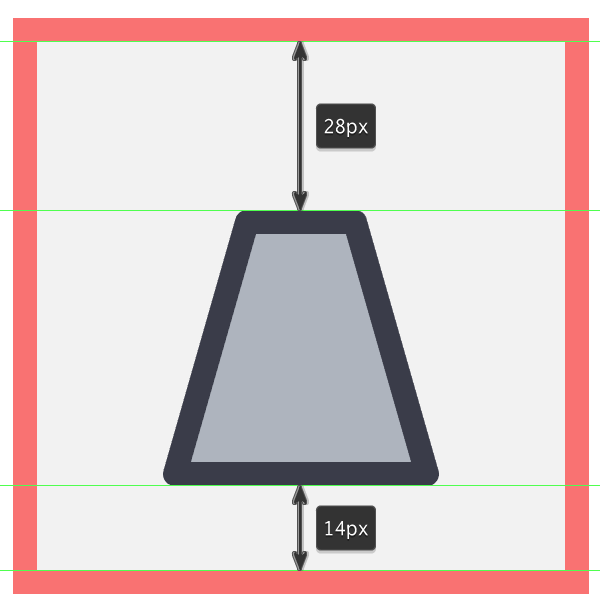 creating the main shapes for the landing pod icon