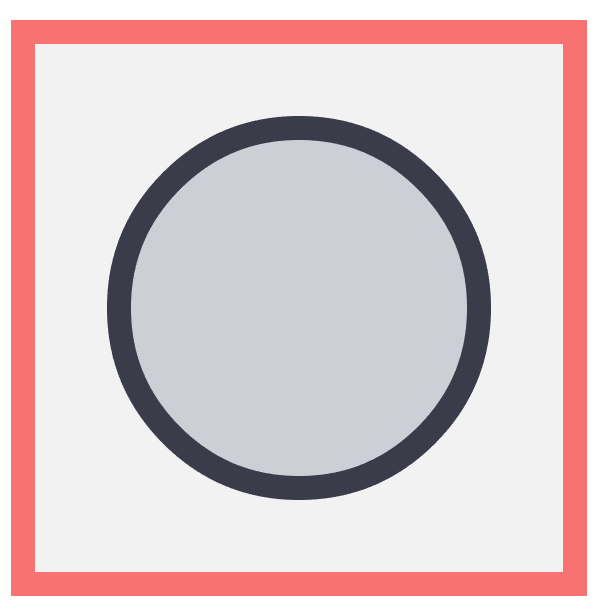 creating the main shapes for the moon icon