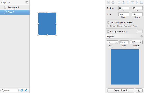 Draw a shape and export it as an SVG file