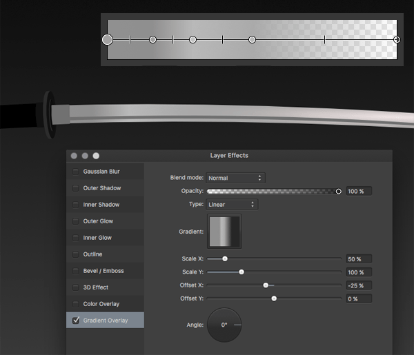 Blade with Gradient Overlay