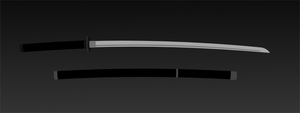 Sword and scabbard so far