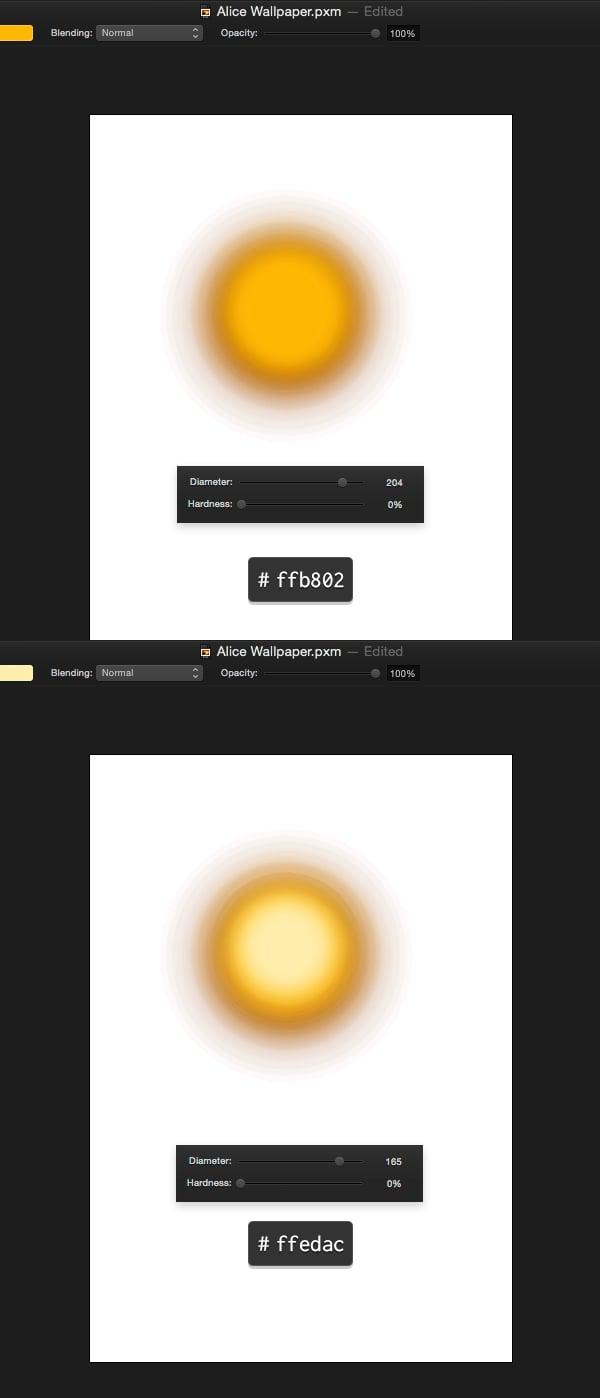 Finish off glow effect