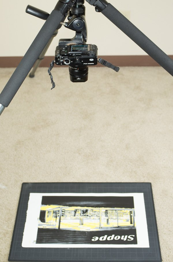 Camera directly above print