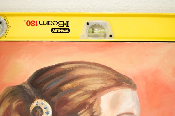 Leveling a painting before photographing it