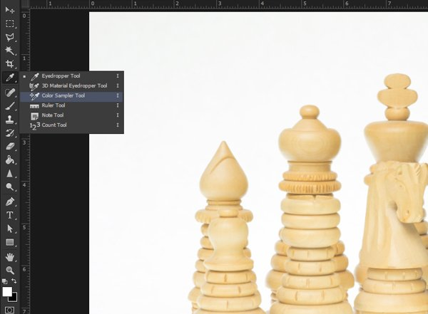 Finding the Color Sample tool