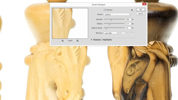 Sharpening the final image in Adobe Photoshop