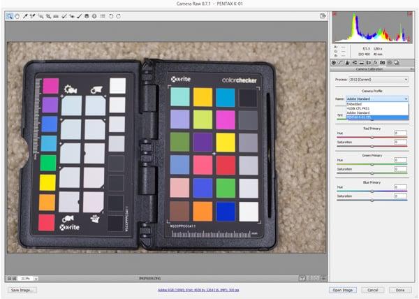 Using the ColorChecker with Adobe Camera Raw