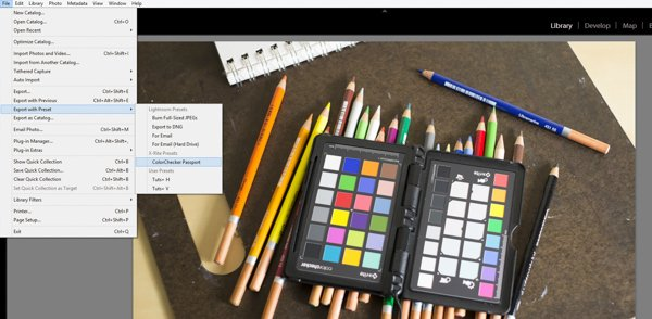 Using a ColorChecker with the Adobe Lightroom Plugin