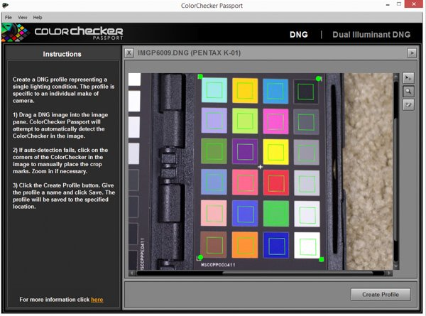 Color swatches automatically recognized