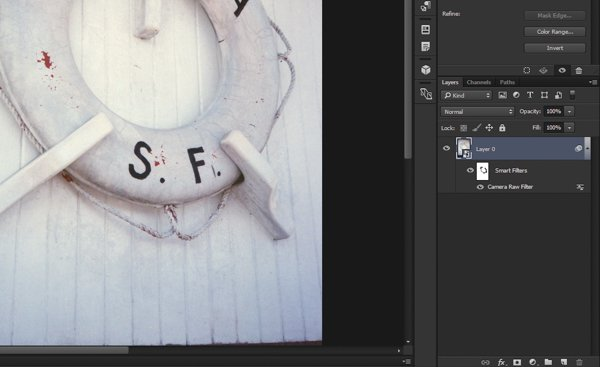 A look at the Layer Mask on the Smart Filter