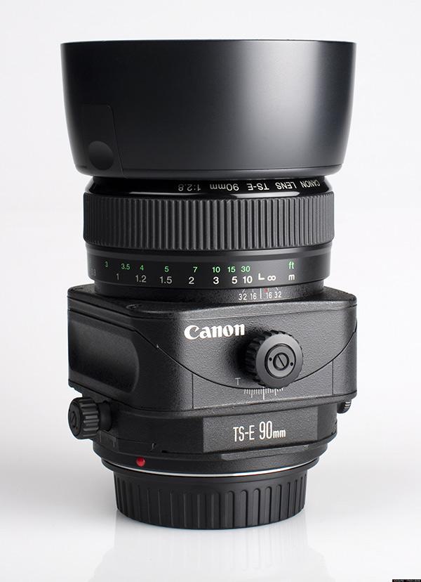 A photo of a Canon Tilt-Shift Lens