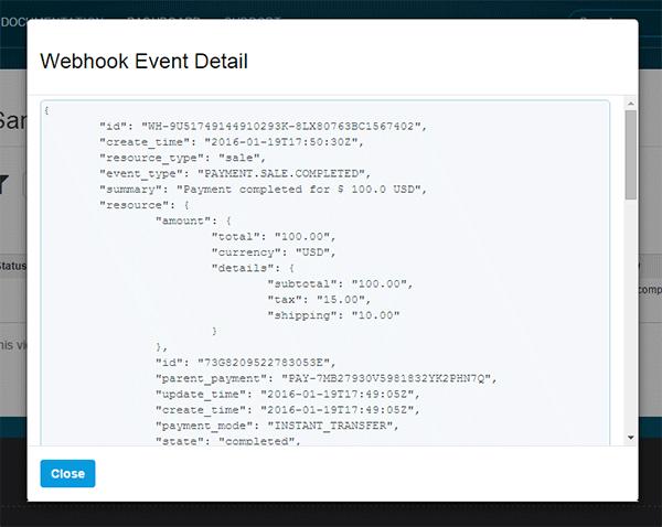 Webhook Event Details