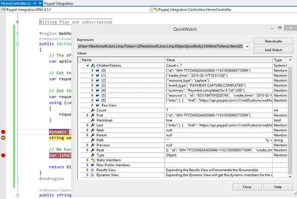 Event Mapped to Dynamic Oject