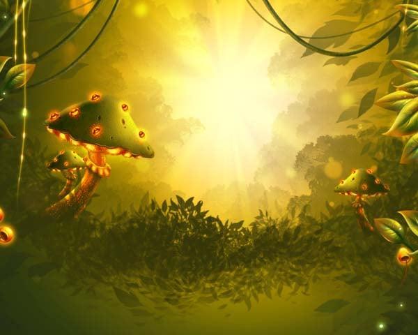 Background moss base