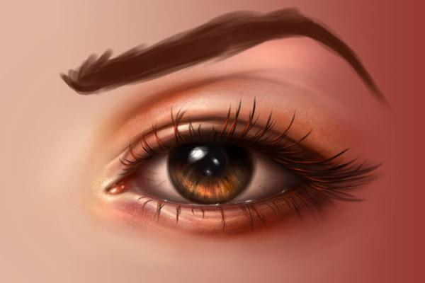 Eyebrow base color