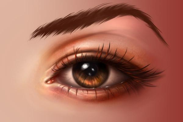 Eyebrows detail base strands