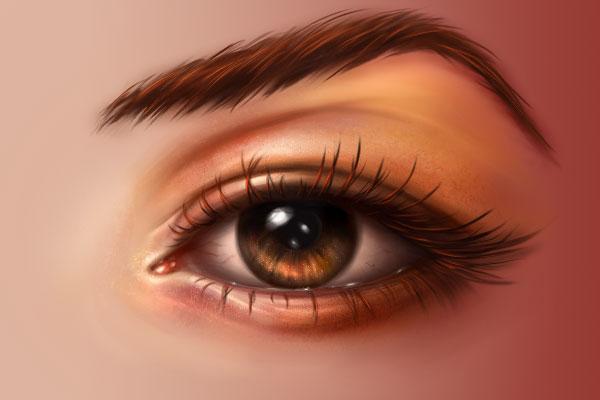 Orange makeup