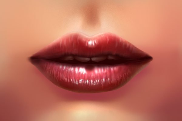 Painting the lips crease