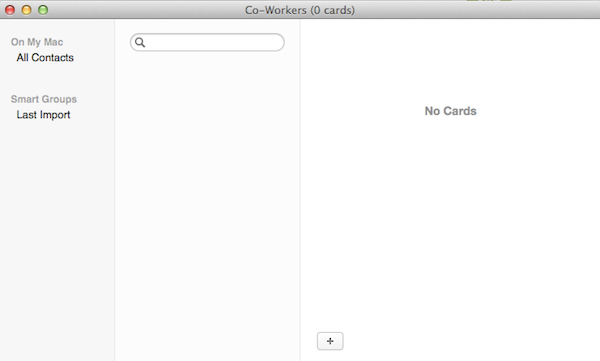 Adding cards to Contacts