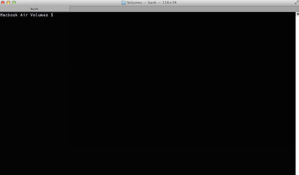 Accessing the Volumes directory from the OSX Terminal