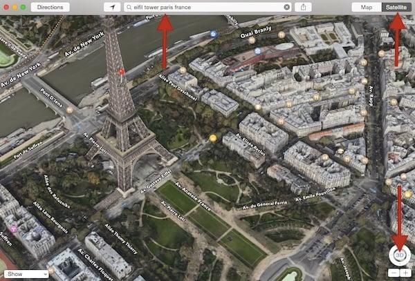 Using 3D Maps to tour Paris France